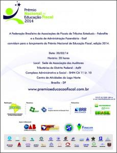 Prêmio Nacional de Educação Fiscal abre inscrições em 21 de março