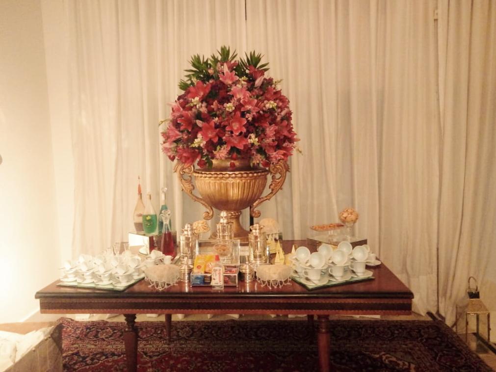 Para o encerramento do evento os convidados contaram com uma mesa de café a qual tinha diversas iguarias