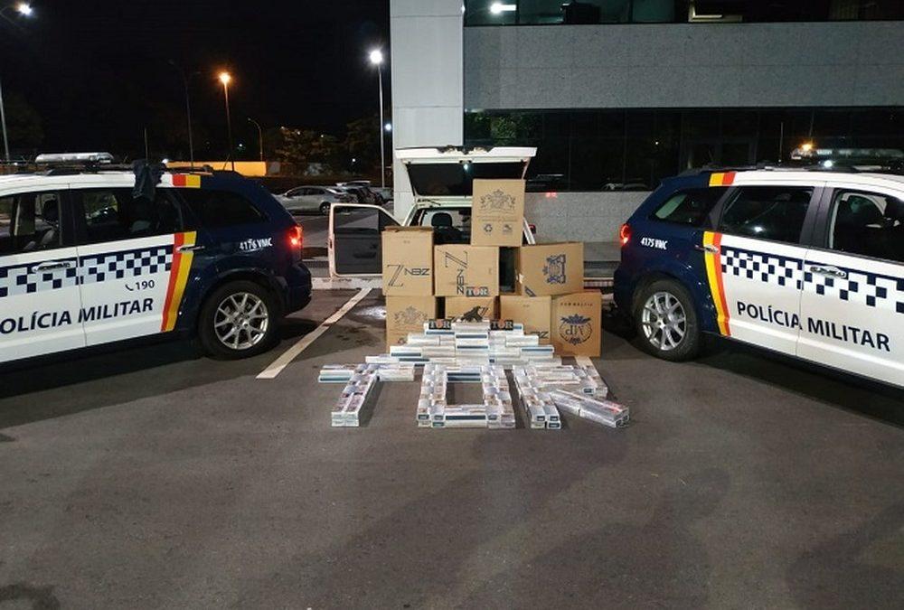 Homem é preso no DF com 5,5 mil carteiras de cigarro contrabandeado do Paraguai